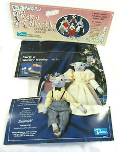 Create a Collectible Ceramic Bisque Doll Kit Curly & Shirley Wooley by Duncan