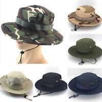 Outdoor Boonie Bucket Hat Hunting Fishing Cap Wide Brim Military Unisex Sun Hats