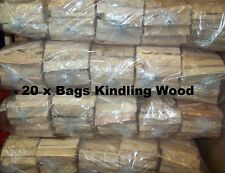 20 x Bags Of Kindling Fire Wood Ideal For Open Fires