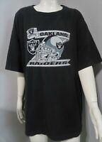 Oakland Raiders Graphic T-Shirt Pro Edge 1991 Mens Size XL 100% Cotton Black