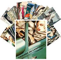 Postcards Pack [24 cards] De Lempicka and Dupas Vintage Cubism Paintings CC1106
