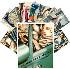 Postcards Pack [24 cards] De Lempicka and Dupas Vintage Cubism Paintings CC1106