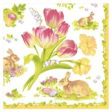 Caspari Paper Beverage Napkins, Easter Bouquet, 2 Packs (12290C)