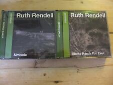 """RUTH RENDELL 2 X AUDIOBOOKS """"Shake Hands For Ever"""" (3xCDs) & """"Simisola"""" (3xCDs)"""