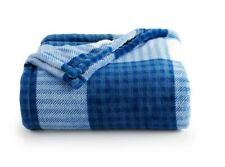 NEW HOLIDAY Fall Navy Plaid Throw Blanket Oversize Super Soft 60x72 The Big One