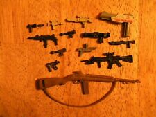 Lot of 13 VINTAGE ACTION FIGURE ACCESSORIES GI JOE hand GUNS RIFLES WEAPONS TOY