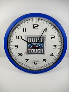 NEW FORD BUILT TOUGH WALL CLOCK - LICENSED PRODUCT 13 INCH