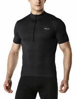 TSLA Men's Short Sleeve Bike Cycling Jersey, Quick Dry Biking Shirts
