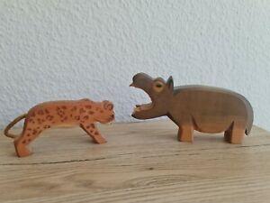 Ostheimer Tiere :  Nilpferd( Flusspferd, Hippo) und Gepard