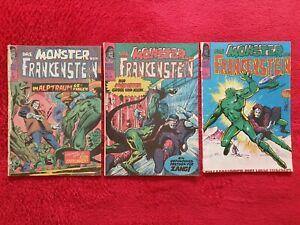 Das Monster von Frankenstein - Band-Nr.18/19/21 (Z2-4) von 1974 Williams