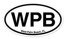 """WPB West Palm Beach Florida Oval car window bumper sticker decal 5"""" x 3"""""""