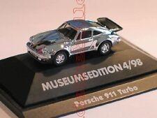 PORSCHE 911 Turbo 930 CROMO CROMATO Museo Herpa 1:87 RAR PC modello speciale