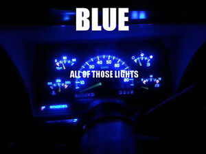 8 BLUE T10 LED INSTRUMENT PANEL CLUSTER DASH LIGHT BULB PC168 PC194