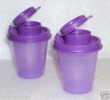 New Tupperware Midgets Salt and Pepper Shakers Set Purple