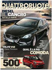 QUATTRORUOTE 682 GIUGIARO BRIVIDO FIAT 500X BMW 640D ADAM mercedes cls 350 AUDI