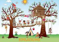 Einladungskarten Kindergeburtstag zum Klettern, Hochseilgarten, 4-25 St.