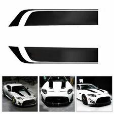 2Pcs/Set Auto Racing Car Hood Stripe Decal Diy Vinyl Bonnet Sticker Waterproof