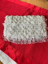 Vintage Clutch Purse. Sequence, Beads White Special Event Perfect!