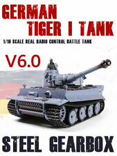 1/16 2.4G Rc Henglong Smoke&Sound German Tiger I Tank V6.0 Steel Gearbox Version