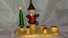 WEIHNACHTS WOODEN CHRISTMAS NATIVITY CANDLE HOLDER - BOXED