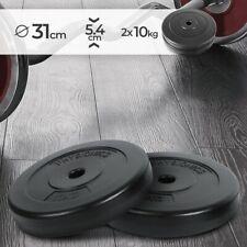 ScSPORTS Hantelscheiben-Set Gummi Gewichte Varianten: 2x1,25 kg // 2x2,5 kg // 2x5 kg // 2x10 kg // 2x15 kg // 1x20 kg // 1x25 kg 30//31 mm Bohrung