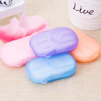 1X Portable Travel Disposable Outdoor One-off Foaming Bath Mini Soap Paper Case
