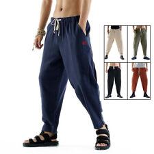 Linen Kung Fu Tai Chi Pants Beam Feet Martial Arts Trousers Loose Casual Pants
