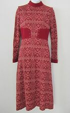 Vintage long hostess fall winter dress Louis Caring of London 36