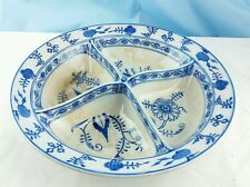 **RARE** Villeroy & Boch Dresden Blue and White Onion Large Divided Serving Bowl