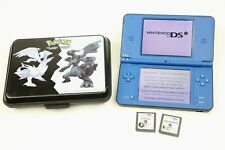 Nintendo DSi XL Launch Edition Blue Handheld System Console Pokemon Case Games