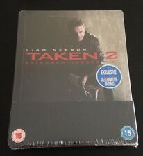 TAKEN 2 Blu-Ray SteelBook UK Region Free Extended Harder Cut New Sold Out & Rare