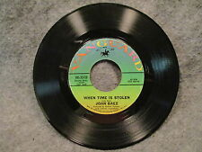"45 RPM 7"" Record Joan Baez When Time Is Stolen Vanguard Records VRS-35138 VG+"