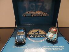 COFFRET COLLECTOR 2 RENAULT ALPINE A110 1800 S TDC 1973 UNIVERSAL HOBBIES 1/43