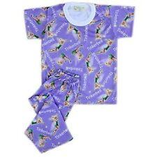 Girls Baby/Toddler Purple Tinkerbell Printed Pajama Set Sleepwear, XXS (1-2 y/o)