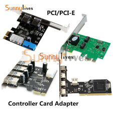 PCI/PCI-E Express USB 2/3.0 2/4/5 Ports Panel 4Pin&20Pin Controller Card Adapter