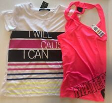 Workout Athletic Shirt Lot Womens Small Energie Material Girl Active Pink White