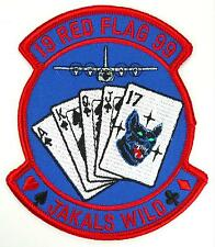 USAF 17th SOS SPECIAL OPERATIONS SQUADRON RED FLAG 1999 JAKALS WILD PATCH