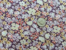 Fabric Cotton Vintage Antique Material Floral Quilting Primitive Salvage Seam