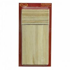 Boyle Balsa Wood Craft Stick Pack 140 Pieces 2 Sizes For Arts and Crafts