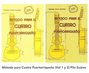 (2 Libros) Métodos para Cuatro PR, Música Popular (Vol 1 & 2) Pilo Suárez