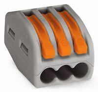 Wago 222-413 LEVER-NUTS 3 Conductor Compact Connectors 100 PK