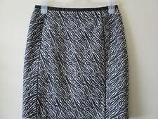 H&M SKIRT Short Black White ZEBRA Print Pencil Sz 10 Eur 36 BNWT