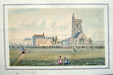 ENGLAND SOUTH COAST CHURCH BY CHAPMANS FINE ALES BUILDING W/COL ENG SCH C1830