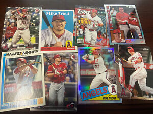 Mike Trout Lot Of 8 All Different W 2020 Topps Chrome, 2019 Topps Chrome, Bowman