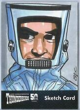 Thunderbirds 50 Years Sketch Card by ATC Adam Cleveland of Virgil Tracy