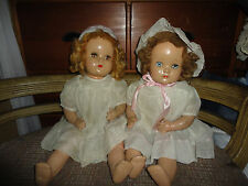 """Pair Vintage 1930s Mohair Wig  Composition Girl Character  Doll 21"""" Tall"""