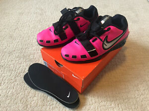 NDS Nike Romaleos 2 Weightlifting Shoes Mens 7 Womens 8.5 Pink Blast Black