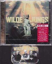 WILDE JUNGS: UNBESIEGT CD NEU + STICKER + MAGNET