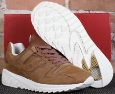 New Saucony Grid 8500 HT Tan Brown & White Leather Low Top Running Shoes Size 8