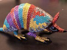Armadillo Oaxacan Wood Carving Alebrije   Colorful Mexican Folk Art   Mexico